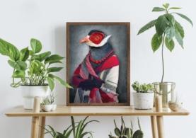 Fugl i klæder - Plakat