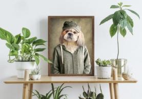 Hund i trøje - Plakat
