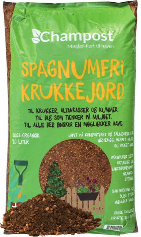 Champost Spagnumfri Krukkejord 20L