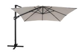 Varallo Frithængende Parasol Sort/Beige