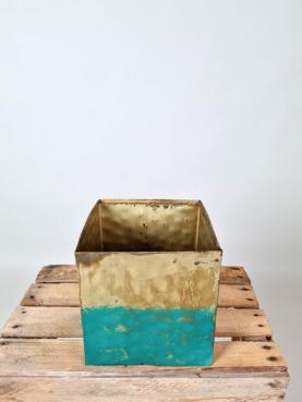 Stor skjuler - guld/blå
