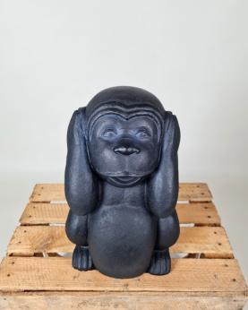 Sæt af 3 aber - Ikke se, høre, tale - sort