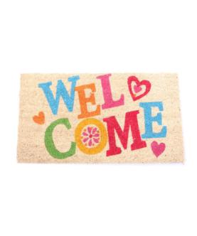"""Kokosmåtte med tekst """"Welcome"""""""