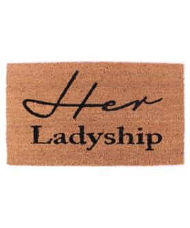"Kokosmåtte med tekst ""Her ladyship"""