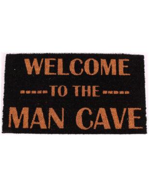 """Kokosmåtte med tekst """"Welcome to the man cave"""""""