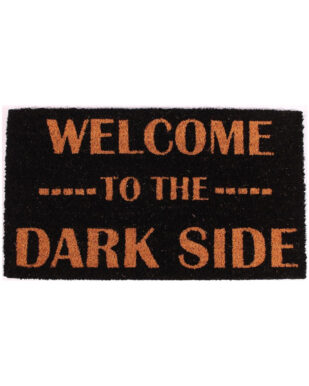 """Kokosmåtte med tekst """"Welcome to the dark side"""""""