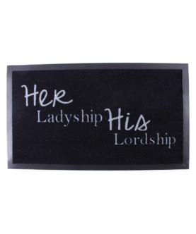 """Nylonmåtte med tekst """"Her Ladyship"""