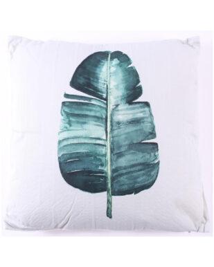 Pudebetræk med strelitzia tryk i polyester