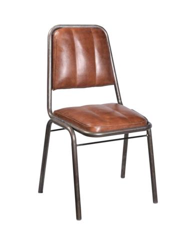 Brooklyn spisebordsstol med læder