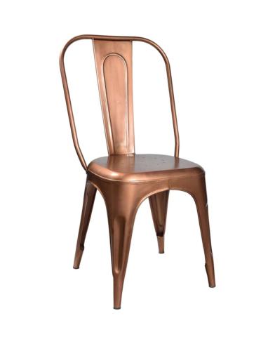 LIVING stol  med høj ryg - kobber