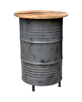 Rill cafebord af stor gammel tønde