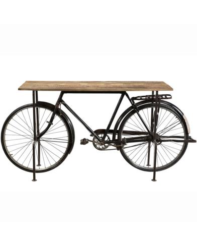 Speedy konsolbord med gammel cykel som stel