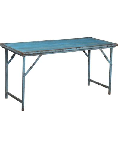 Originalt gammel bord i turkisblå