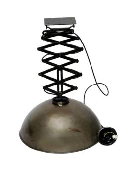 Fabriksloftlampe med sakseudtræk - jern