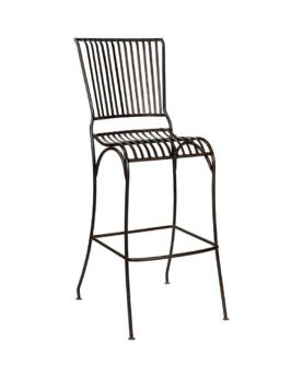 Provence barstol med ryglæn