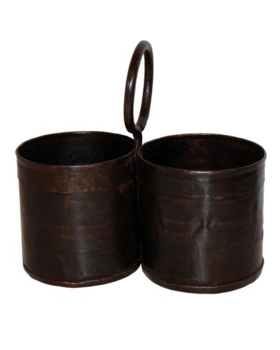 Kayser dobbelt bøtte i jern