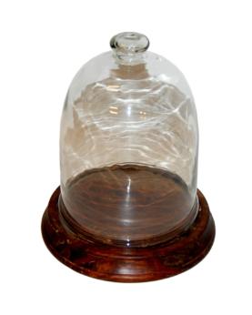 Tarina glasklokke med træbund