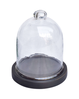 Torino lille glasklokke - sort