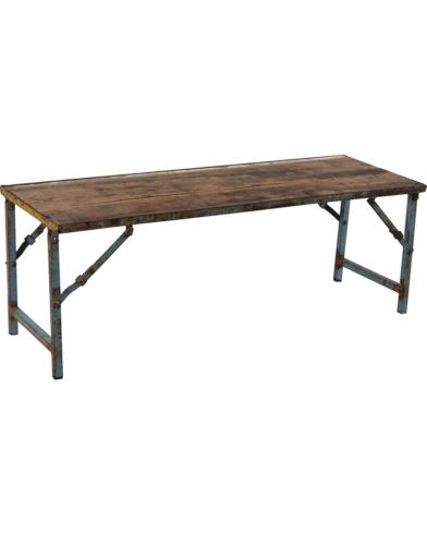Malcom rustik gammel træbænk