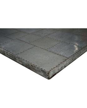 Povero bordplade med galvaniseret top