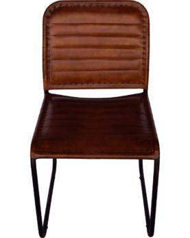 Kenn stol - brun læder