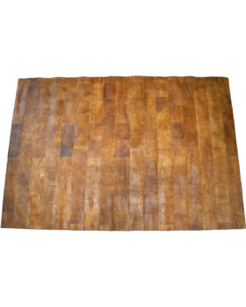 Dorph lædertæppe - brun