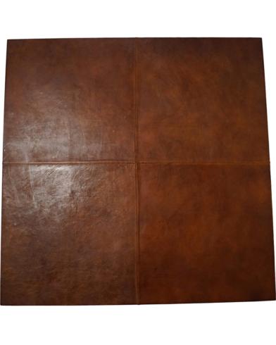 Vægplade beklædt med læder 100x100 cm