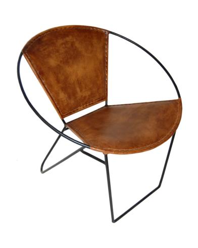 Lace lænestol med læder