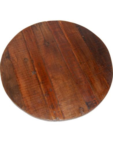 Amadeus cafébordplade i genbrugstræ - Ø70 cm